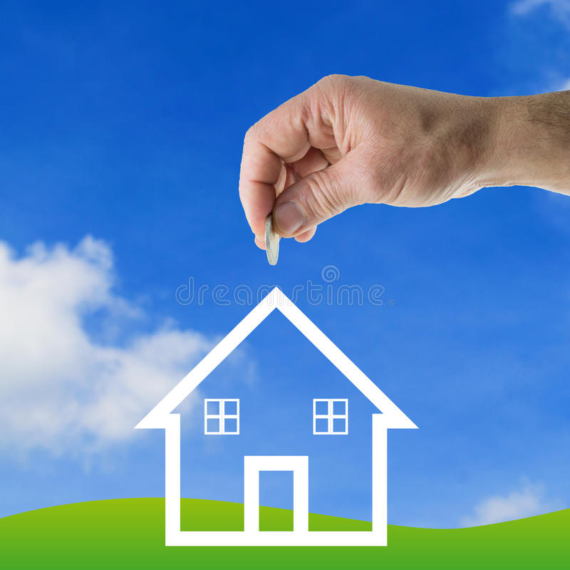 Деньги сбережений для дома бесплатная иллюстрация