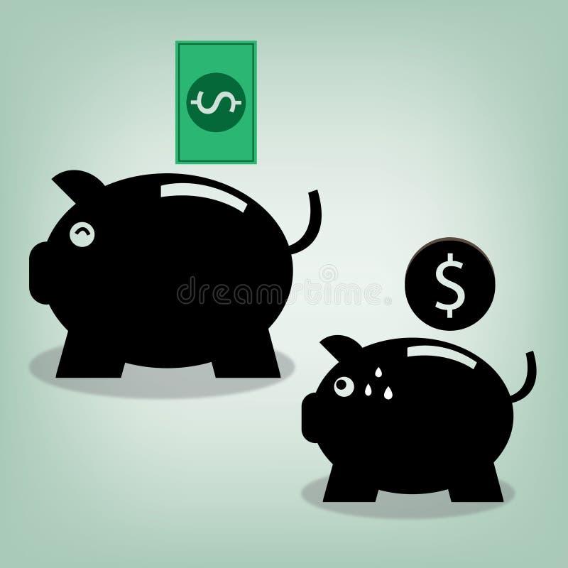 Деньги свиньи иллюстрация вектора