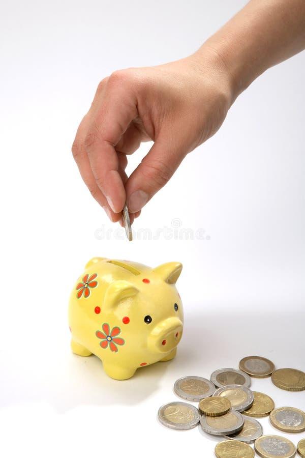 деньги сохраняют стоковая фотография rf
