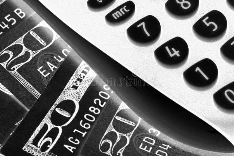 деньги счета электрические стоковое изображение rf