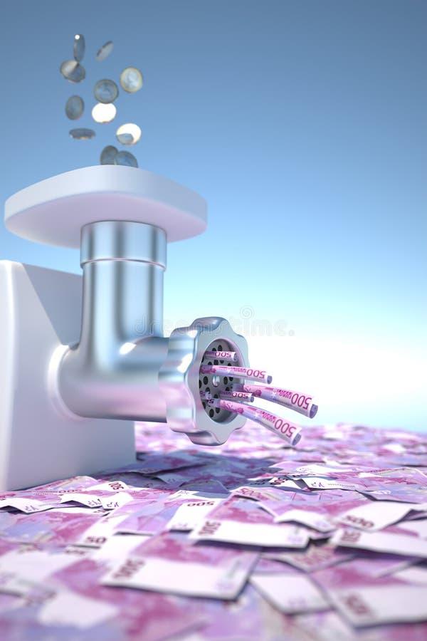 деньги точильщика иллюстрация штока