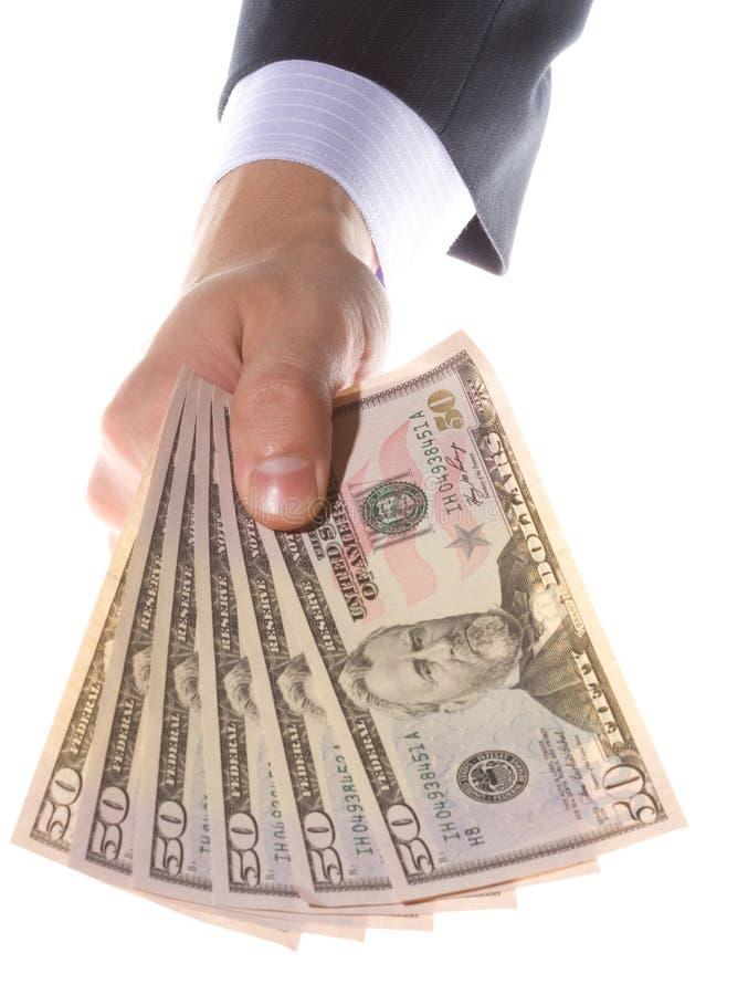 деньги удерживания руки стоковое изображение rf