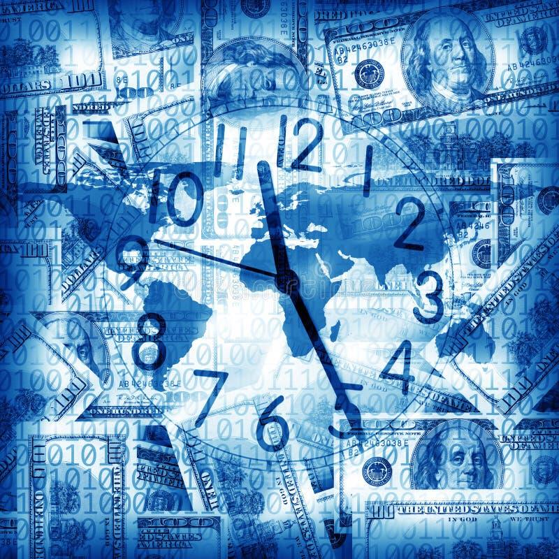 деньги часов иллюстрация штока