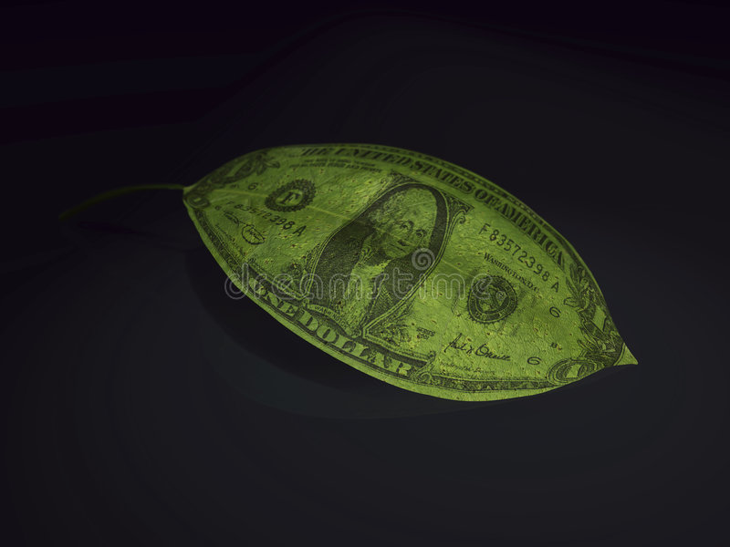 деньги 3d иллюстрация штока