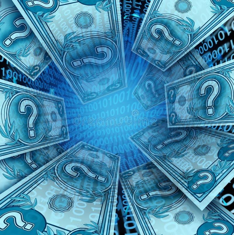 Деньги Cryptocurrency и цифров иллюстрация вектора