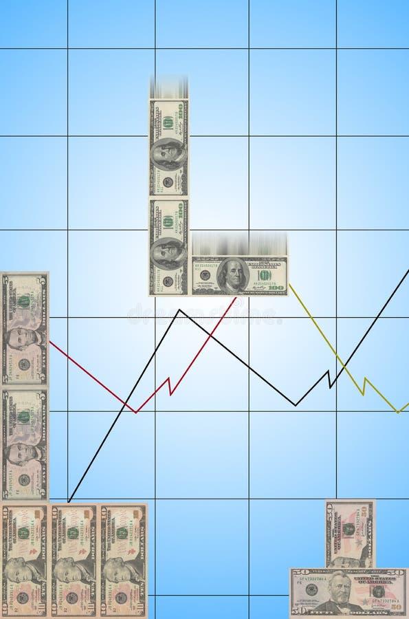 Деньги Tetris стоковая фотография