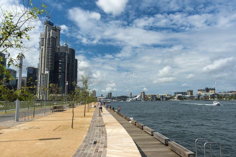 День 2016 Австралии предела Barangaroo стоковое изображение