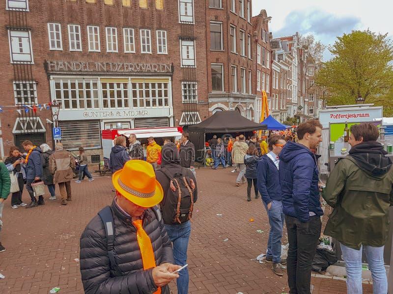 День Амстердам 2019 королей стоковые фото