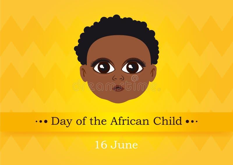 День африканского вектора ребенка бесплатная иллюстрация