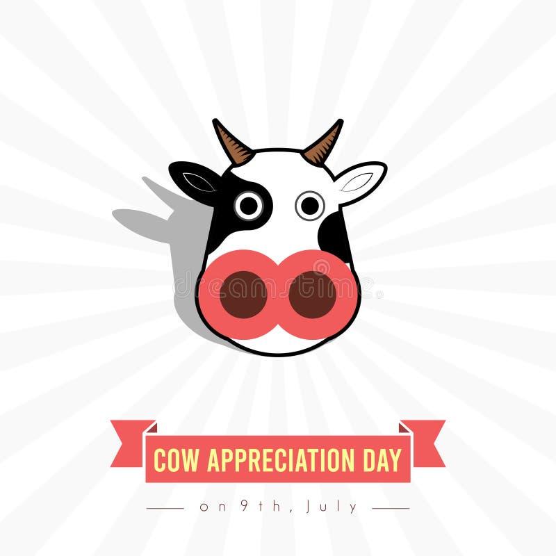 День благодарности коровы мира иллюстрация вектора