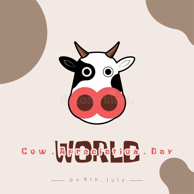 День благодарности коровы мира иллюстрация штока