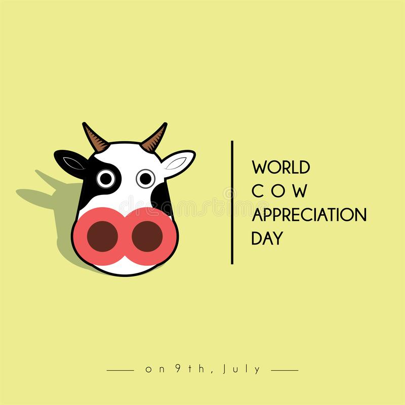 День благодарности коровы мира бесплатная иллюстрация