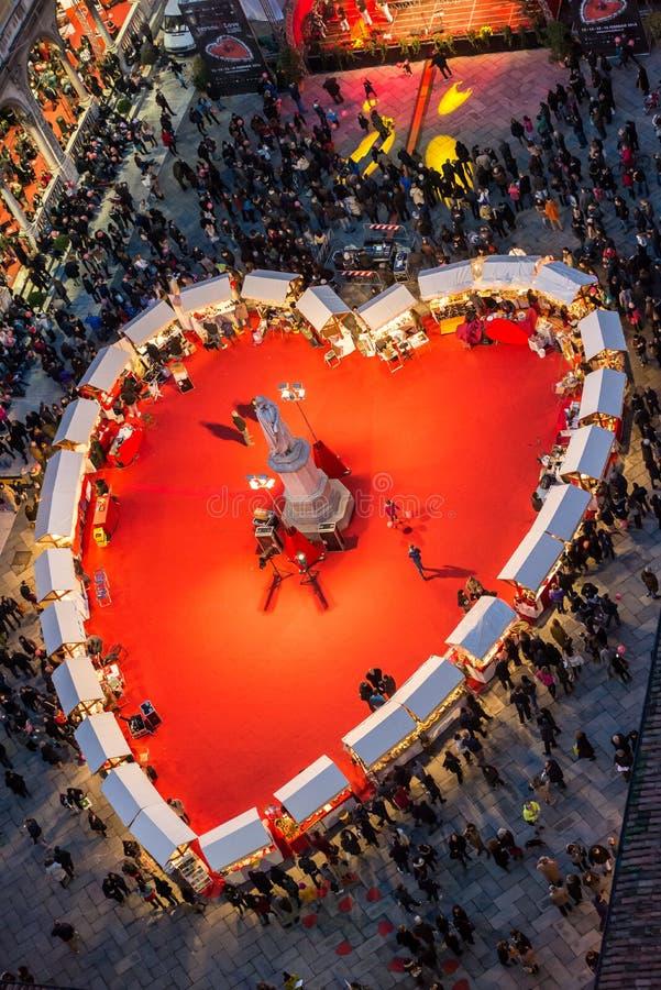 День валентинки в Вероне, Италии стоковые изображения rf