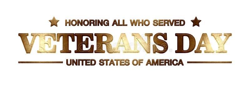 День ветеранов логотипа бесплатная иллюстрация