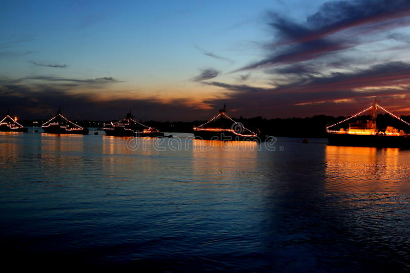 День военно-морского флота, Asrakhan, Рекы Волга стоковое фото rf