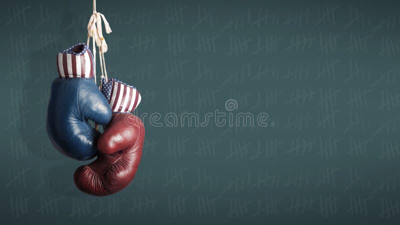 День выборов 2014 - республиканцы и Демократ в кампании стоковое фото