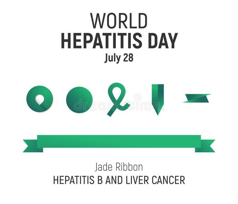 День гепатита мира, 28-ое июля, дизайн бесплатная иллюстрация