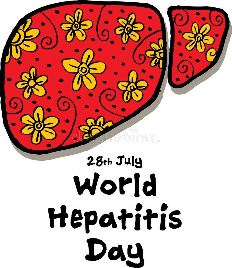 День гепатита мира иллюстрация вектора