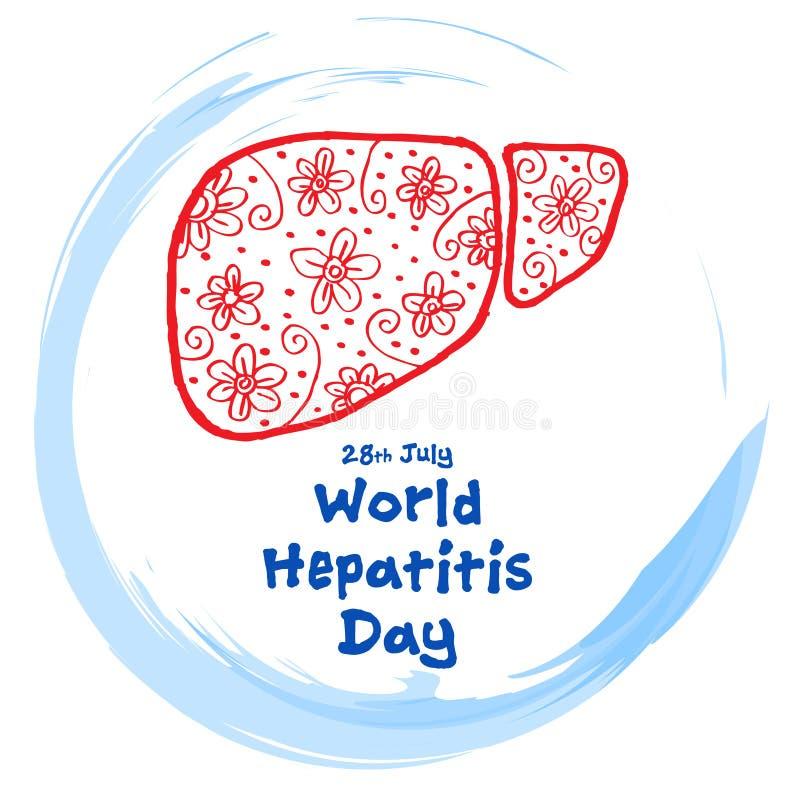 День гепатита мира иллюстрация штока