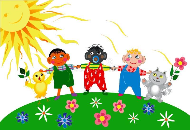 День детей бесплатная иллюстрация