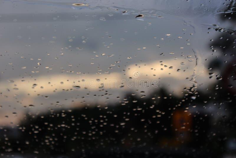 День дождя в kalamaria, Thessaloniki стоковое изображение