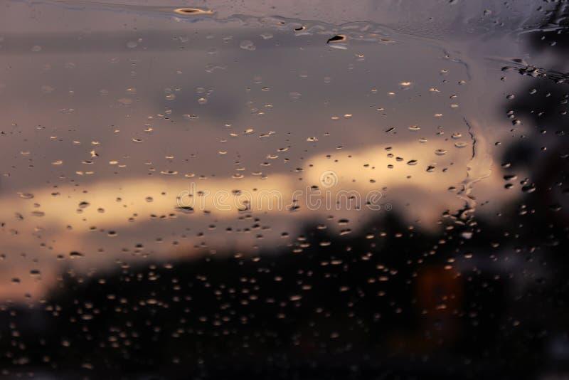 День дождя в thessaloniki стоковая фотография rf