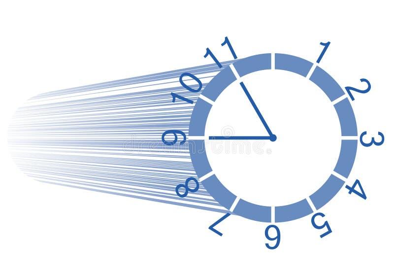день достаточные часы не иллюстрация вектора