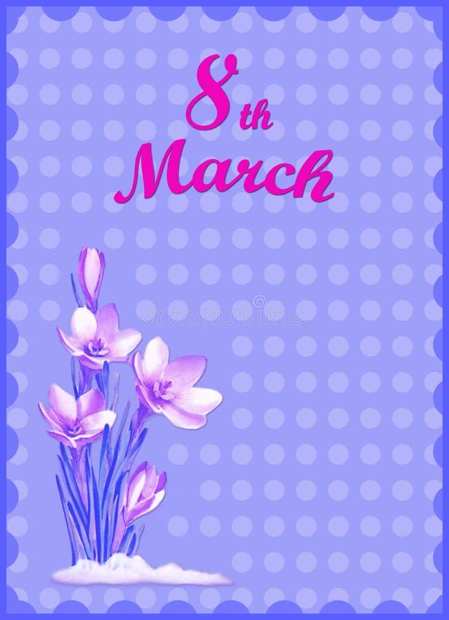День женщин 8-ое марта иллюстрация штока