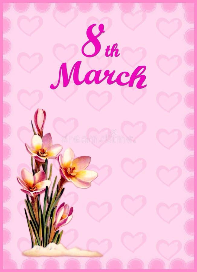 День женщин 8-ое марта бесплатная иллюстрация