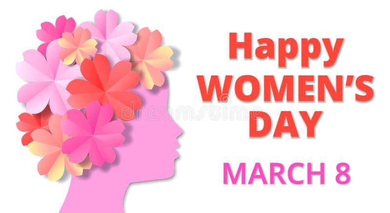 день женщин иллюстрация вектора