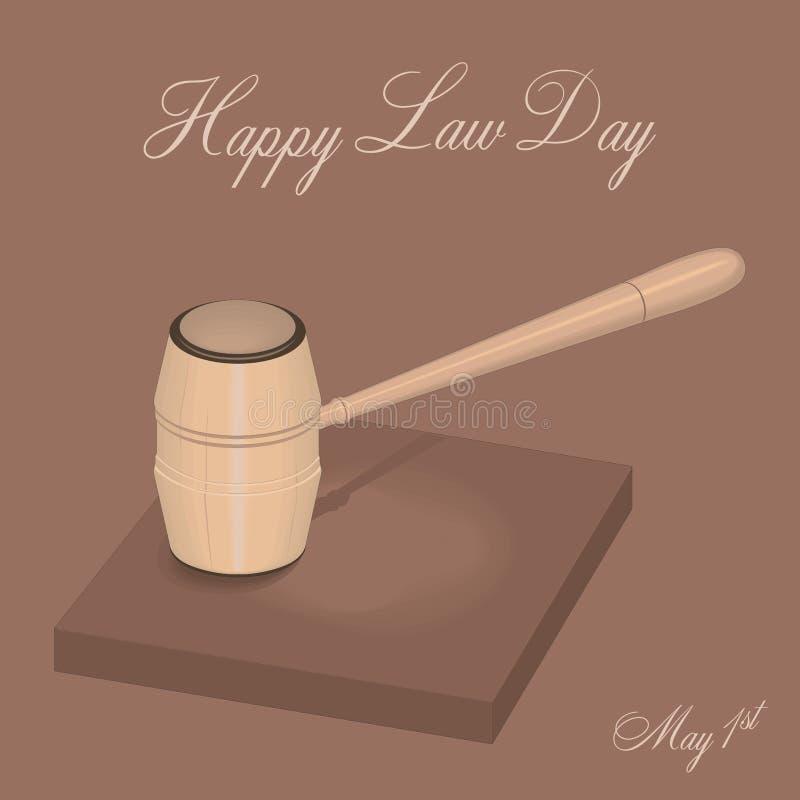 День закона иллюстрация штока