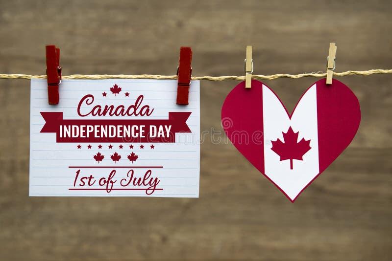 День Канады, сообщение Дня независимости стоковая фотография