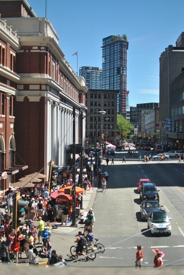 День Канады в Ванкувере стоковые изображения