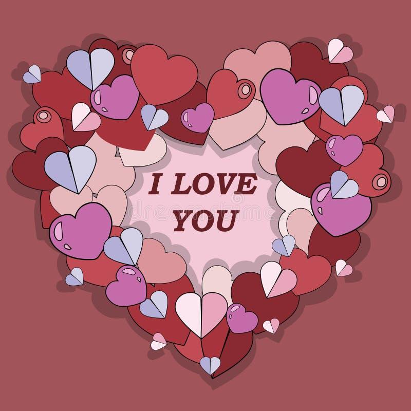 день карточки приветствуя счастливые valentines также вектор иллюстрации притяжки corel стоковая фотография rf