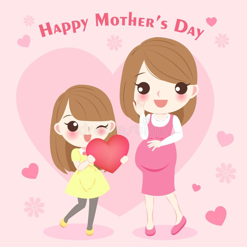 День матери шаржа счастливый иллюстрация штока