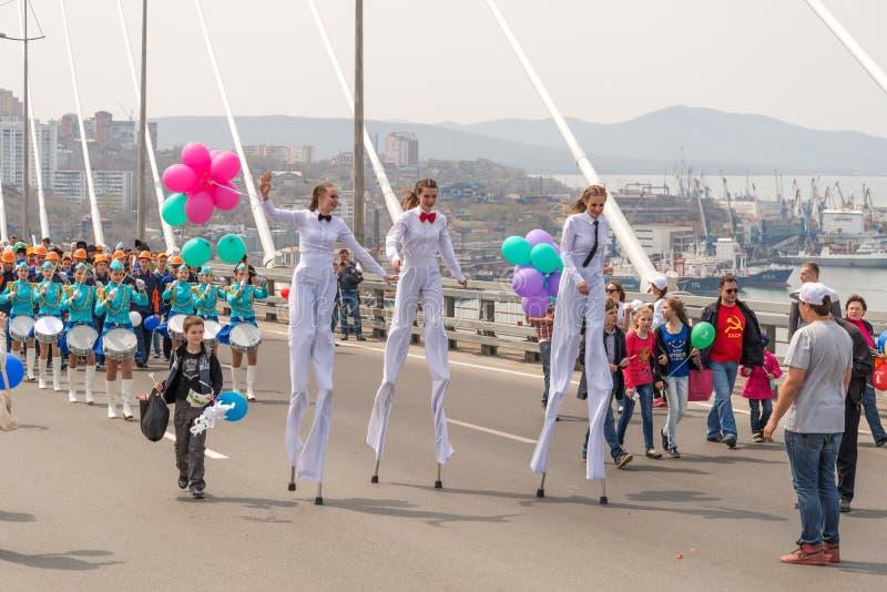 День международных работников в Владивостоке стоковая фотография