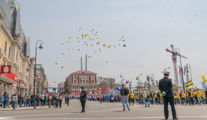 День международных работников в Владивостоке стоковое фото rf