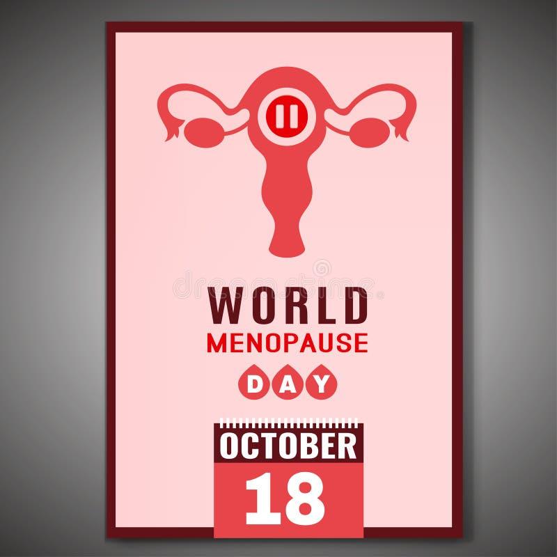 День менопаузы мира бесплатная иллюстрация