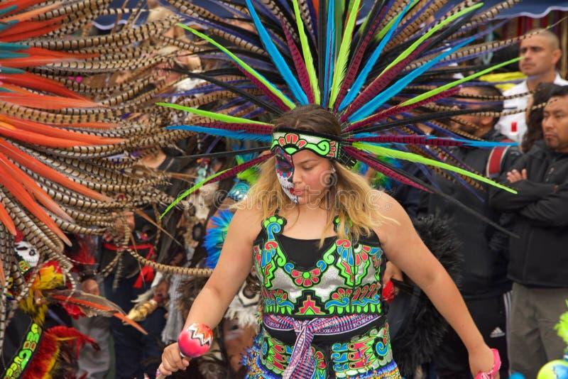 День мертвого фестиваля, Fruitvale, Калифорния стоковые изображения rf