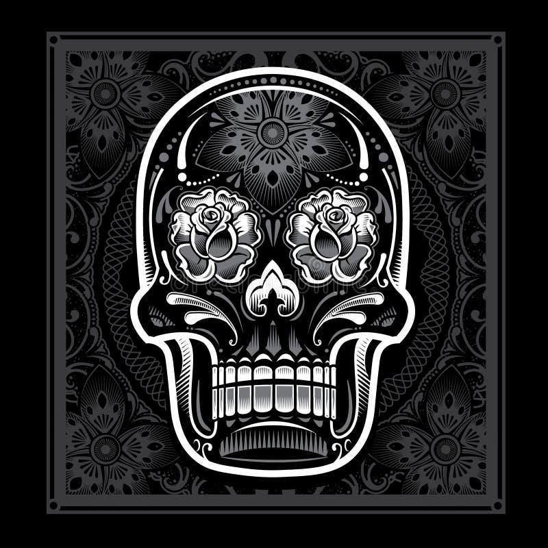 День мертвого черепа конфеты бесплатная иллюстрация