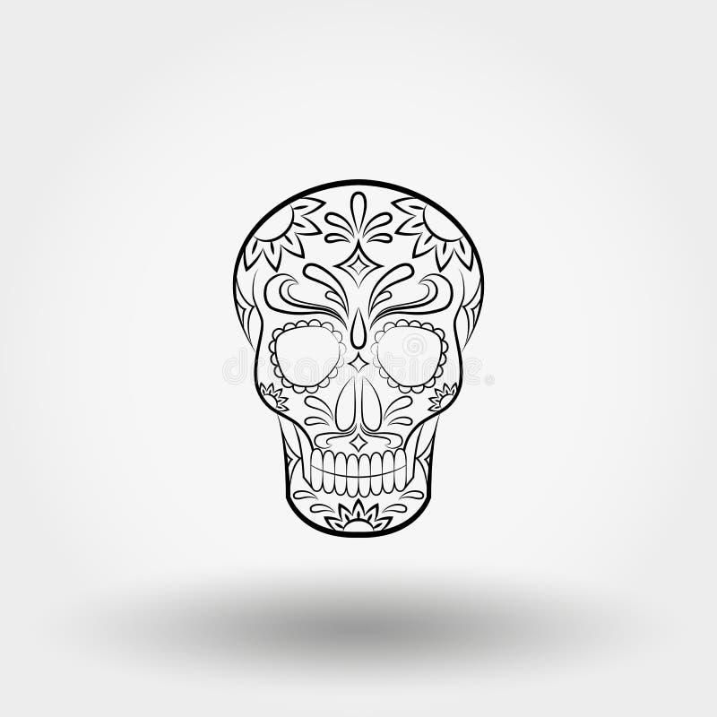 день мертвый Череп мексиканско бесплатная иллюстрация