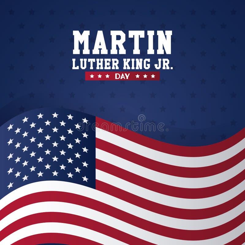 День младшего Мартин Лютер Кинга иллюстрация штока