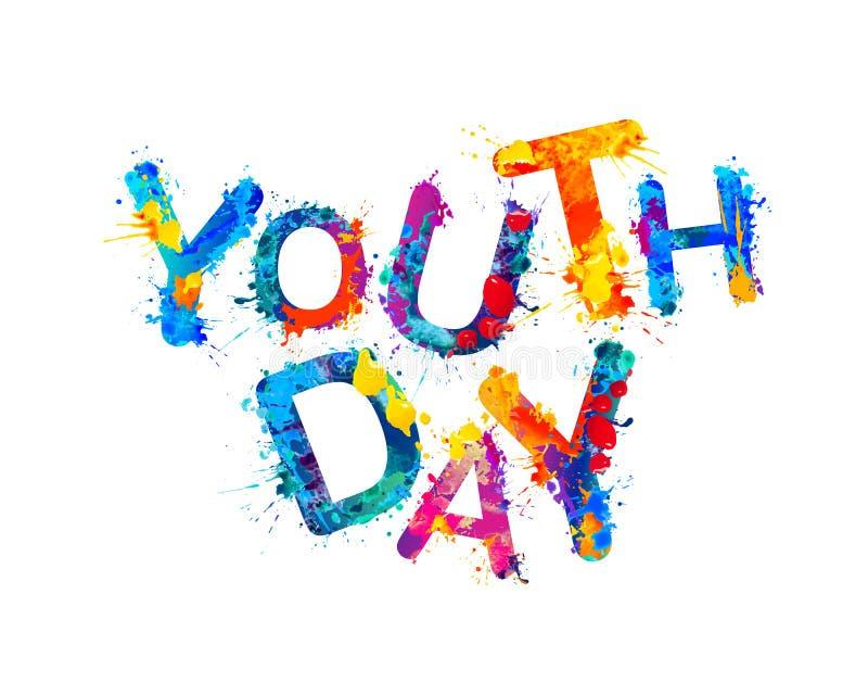 День молодости Краска выплеска бесплатная иллюстрация