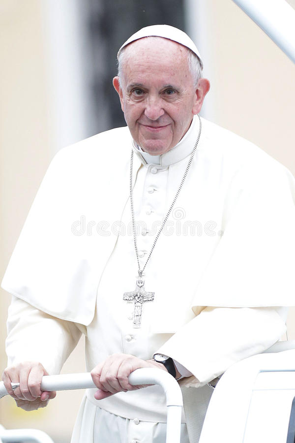 День молодости мира 2016 - Папа Фрэнсис стоковое фото rf