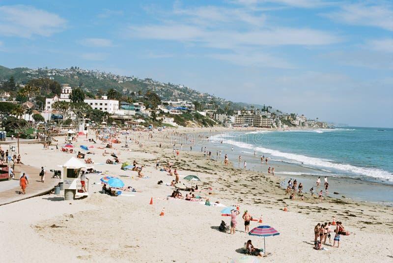 День на пляже Калифорния Laguna пляжа стоковое изображение rf