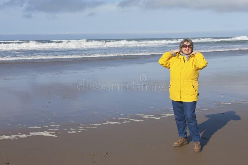 День на побережье Орегона пляжа стоковая фотография