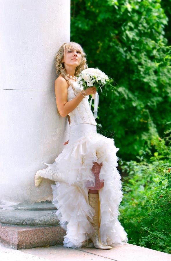 день невесты ее детеныши венчания стоковые изображения
