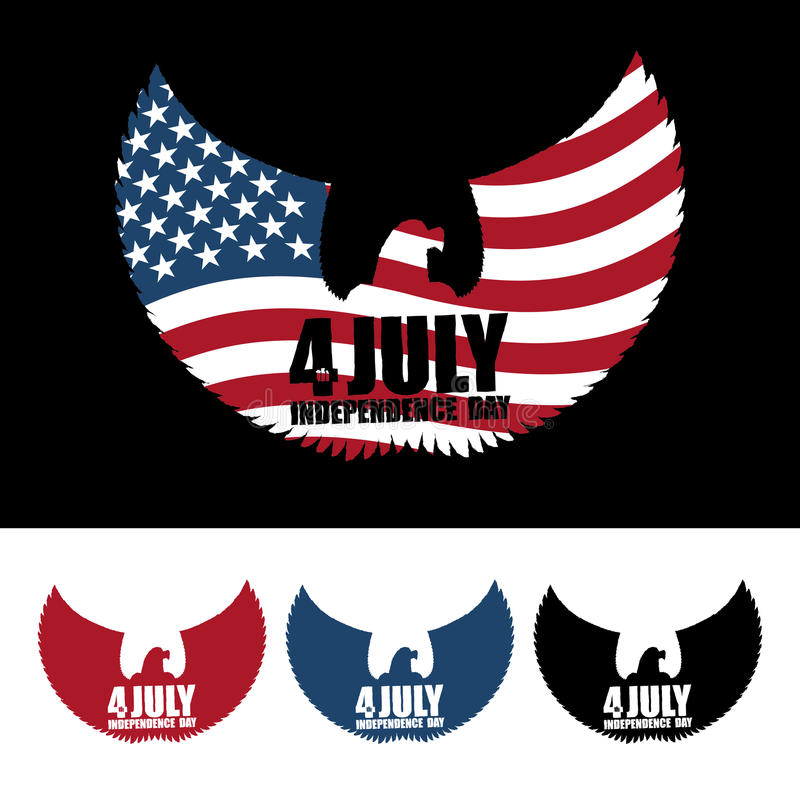День независимости Америка Символ орла ountrys с крылами и бесплатная иллюстрация