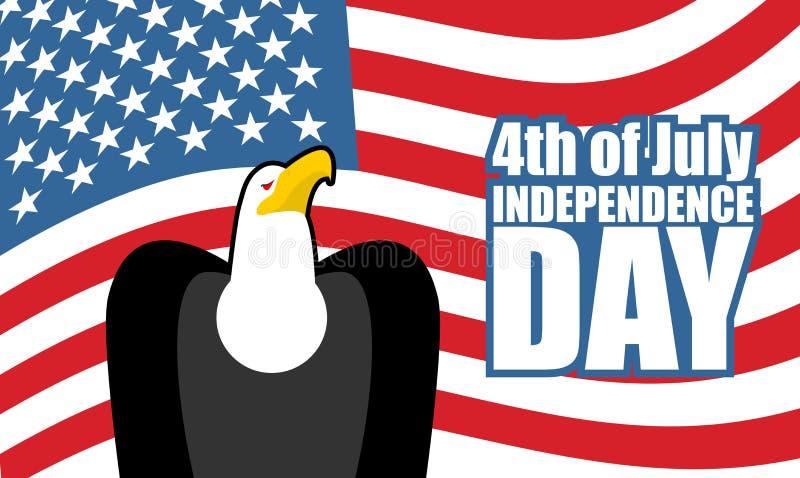 День независимости Америки флаг США орла Национальный праздник иллюстрация штока
