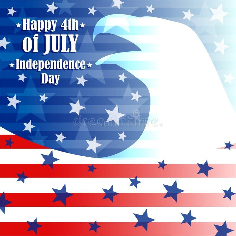 День независимости 4-ое -го июль иллюстрация штока